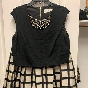 Eliza J Formal Skirt and Crop Top Set size 10